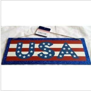 Other - USA American Flag Wall Door Sign Patriotic July 4